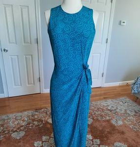 Spencer Jeremy silk sleeveless blue maxi dress